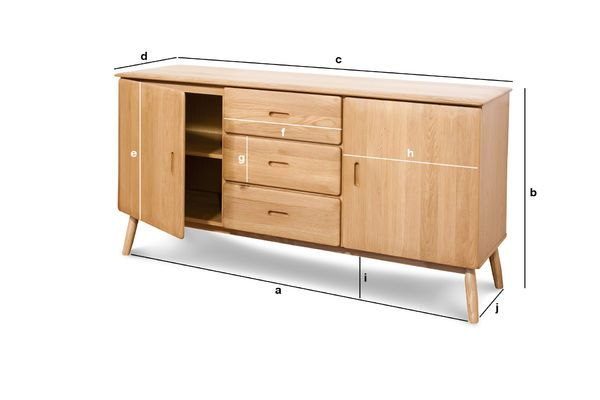 Product Dimensions Kadrell oak Sideboard
