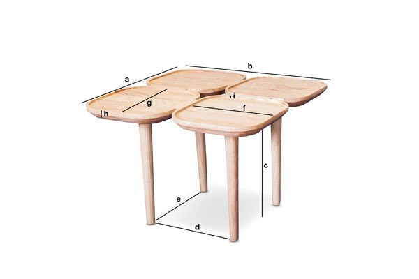 Product Dimensions Kädri wooden side table