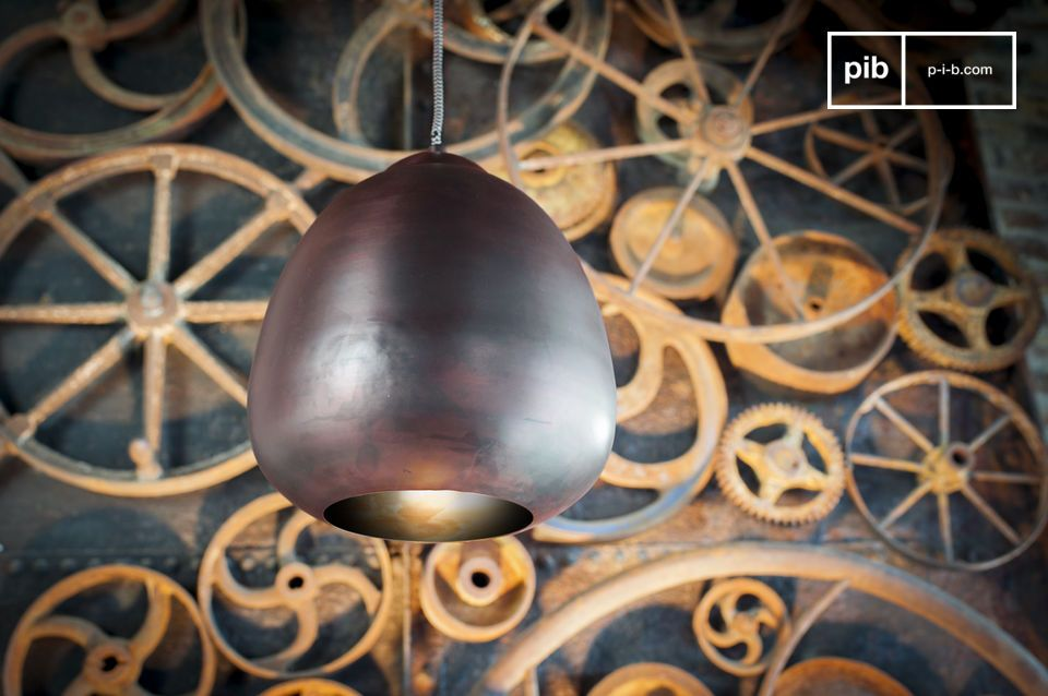 A retro hanging chandelier all in curves
