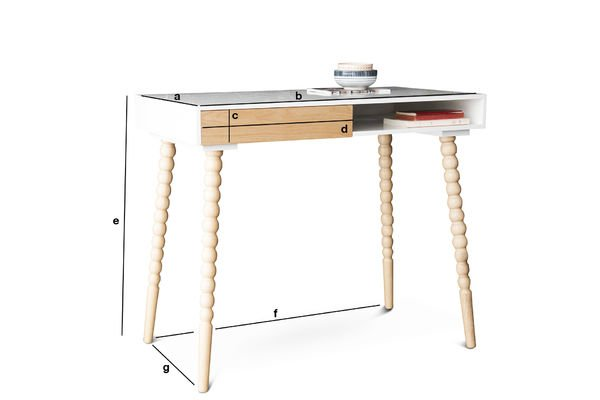 Product Dimensions Katalina desk with a drawer