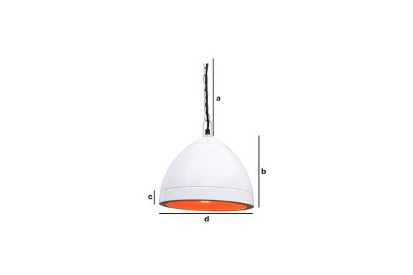 Product Dimensions Këpsta white hanging lamp