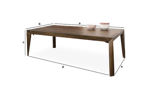 Kitell coffee table entirely of brazilian tulipwood pib for Coffee table 60 x 40
