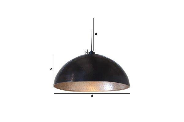 Product Dimensions Komais metal ceiling light