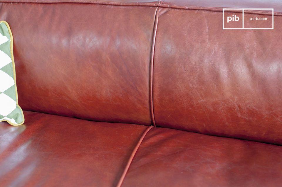 The seams contribute to the graphic appearance of the sofa.