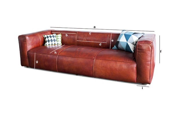 Krieger Vintage Sofa - An exceptional vintage leather sofa ...