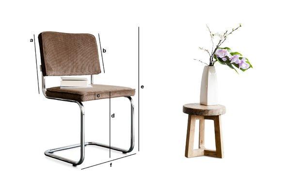 Product Dimensions Krömart brown chair