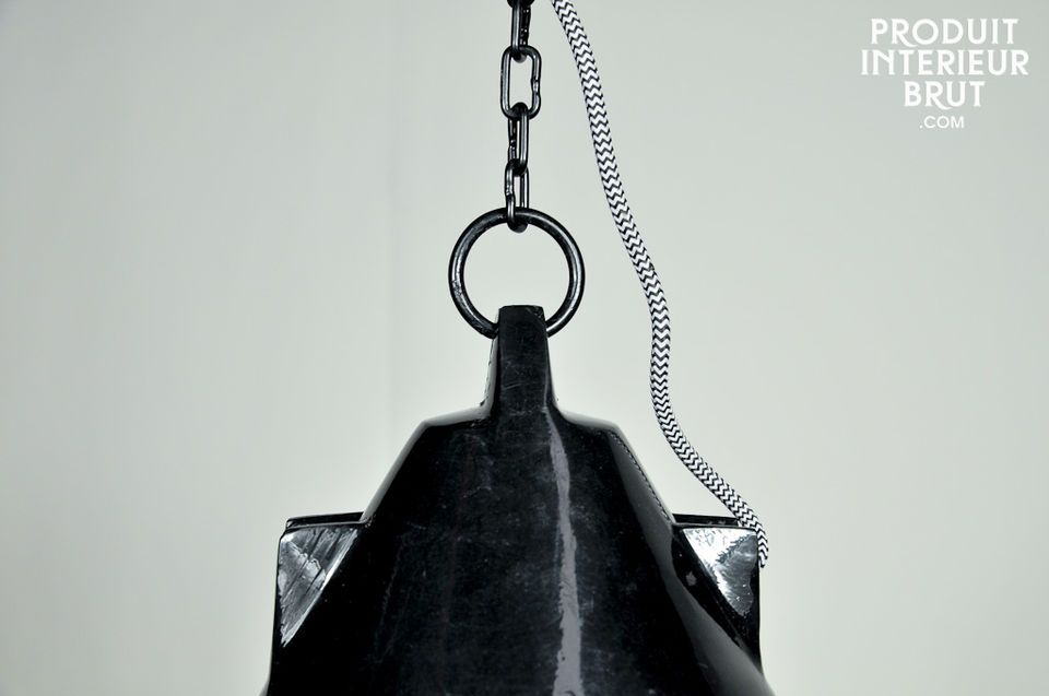 Industrial lighting for a retro nautical touch