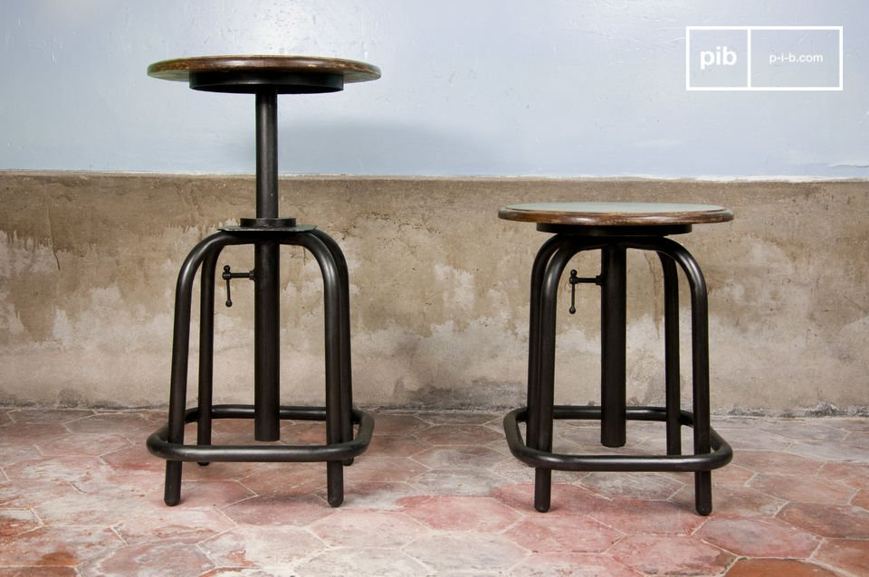 This lab stool has a retro style entirely of its own