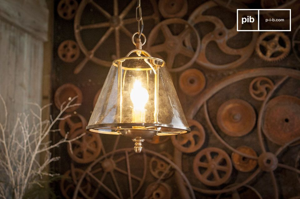 A suspended luminaire with a boho chic allure