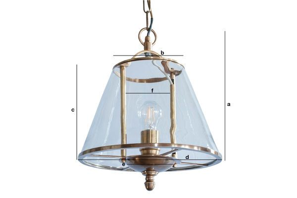 Product Dimensions Lacanau glass pendant lamp
