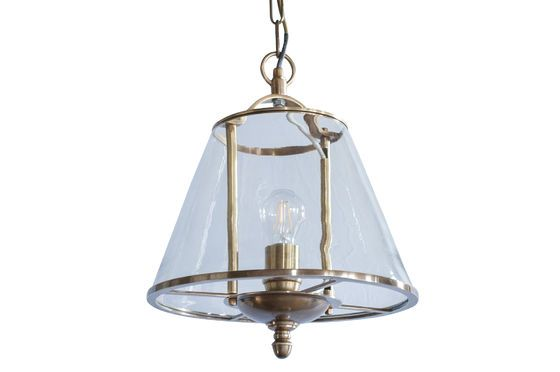 Lacanau glass pendant lamp Clipped