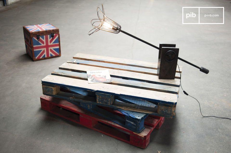 Lamp with unique vintage industrial design