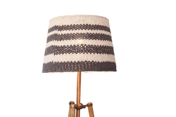 Lampshade Paimpol grey Clipped