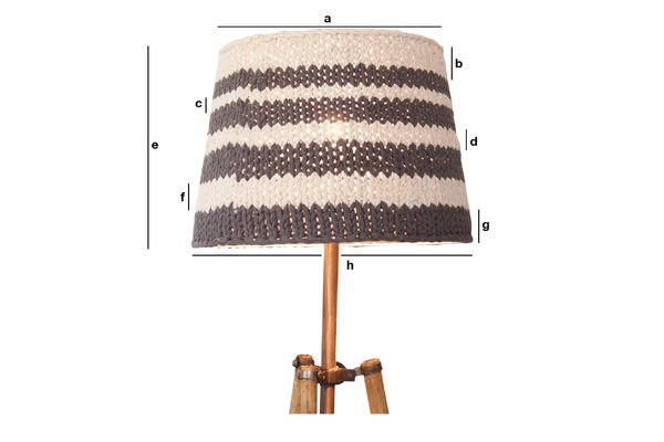 Product Dimensions Lampshade Paimpol grey