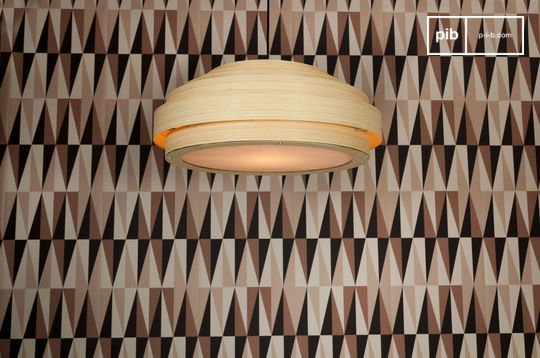 Large Bamboo ceiling light