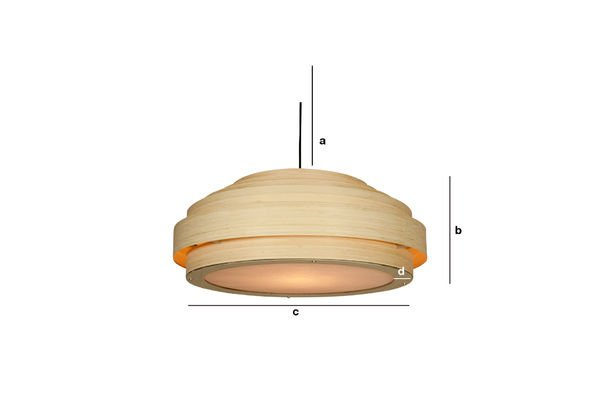 Product Dimensions Large Bamboo ceiling light