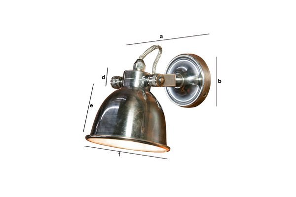 Product Dimensions Large Bistro wall lamp