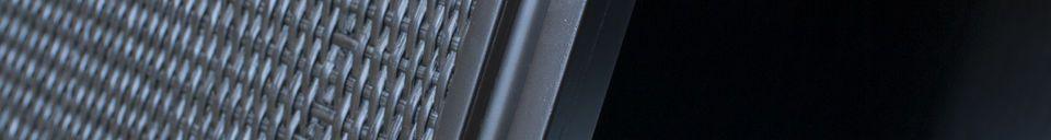 Material Details Large black Hevaya sideboard