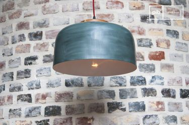 Large Blue Terry hanging lamp