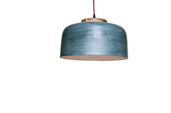 Large Blue Terry hanging lamp Clipped