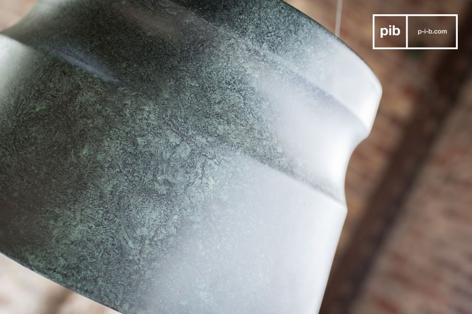 Fall for a slate coloured lamp with marbled effects for your living room