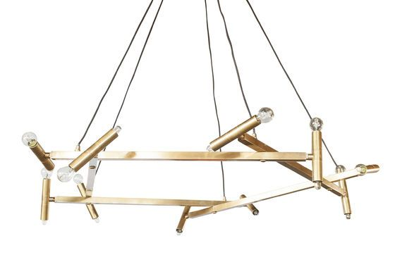 Large brass chandelier Izaar Clipped