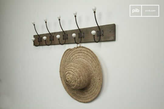 Large ceramic hook coat rack