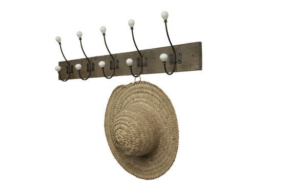 Large ceramic hook coat rack Clipped