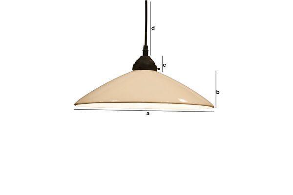 Product Dimensions Large ceramic Suspension lamp Pornic