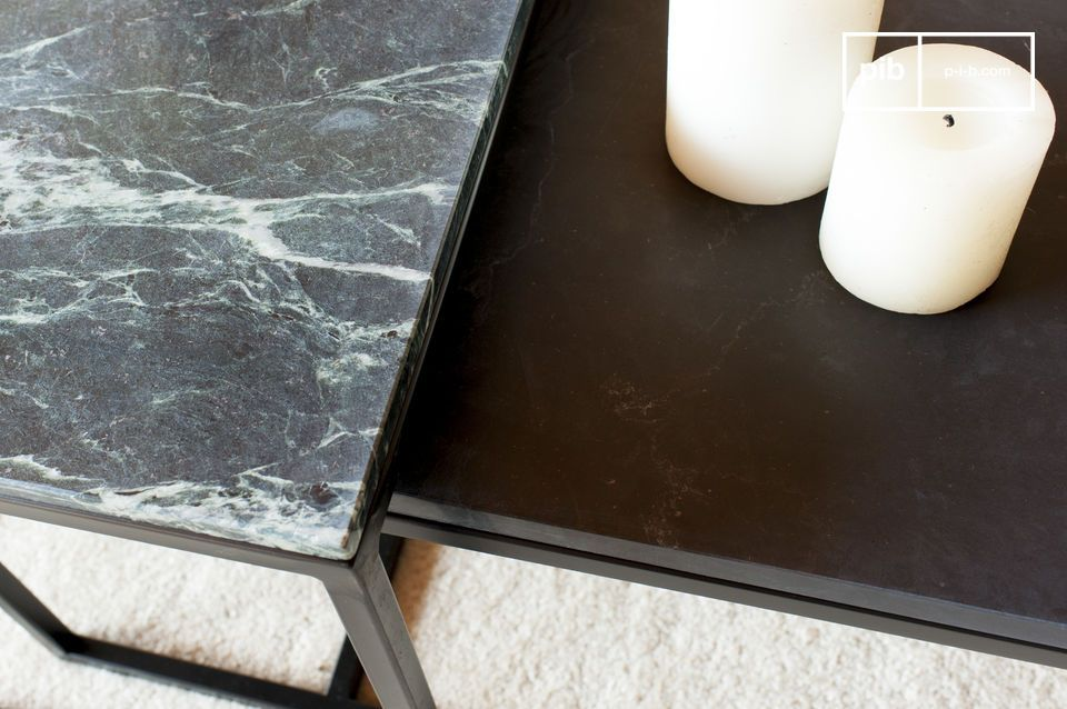 Large coffee table in green marble Avedore - 6