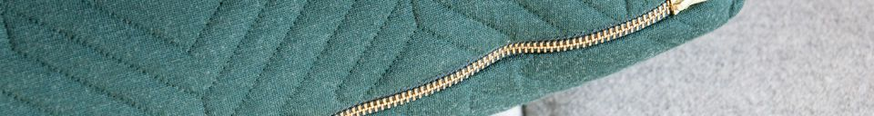 Material Details Large Dark Green Quilted Cushion