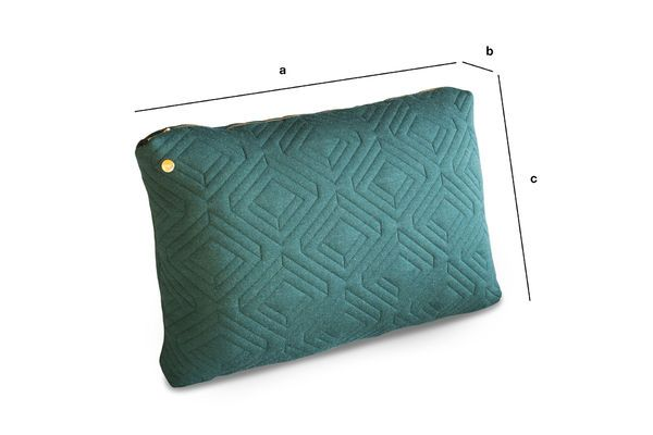 Product Dimensions Large Dark Green Quilted Cushion