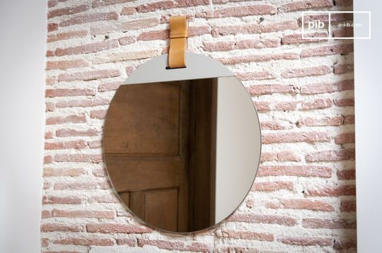 Large entrance mirror with strap