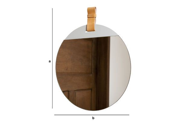 Product Dimensions Large entrance mirror with strap