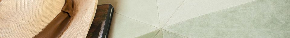Material Details Large green velvet pouf Skagen