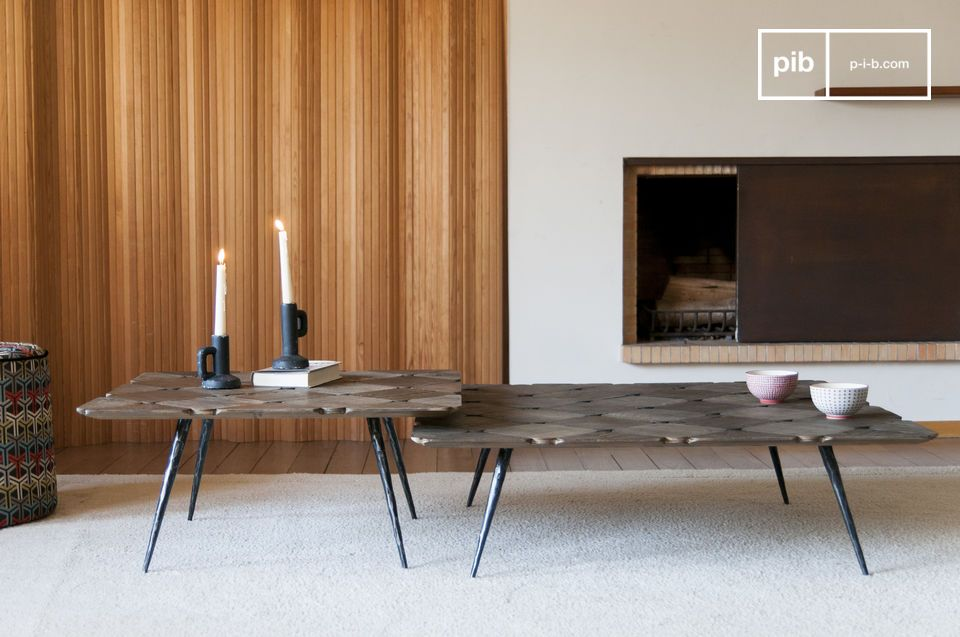 The table combines elegance and Nordic charm.