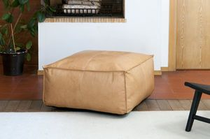 Large Marsliden Leather Pouf