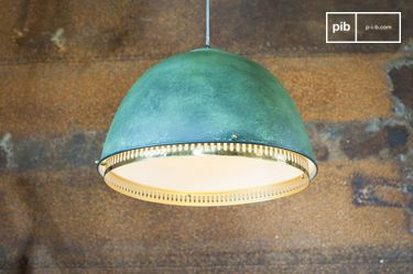 Large metallic suspension light Uranus