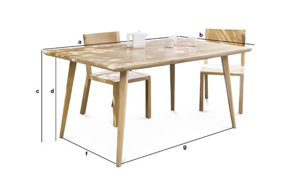 Product Dimensions Large Môka Table