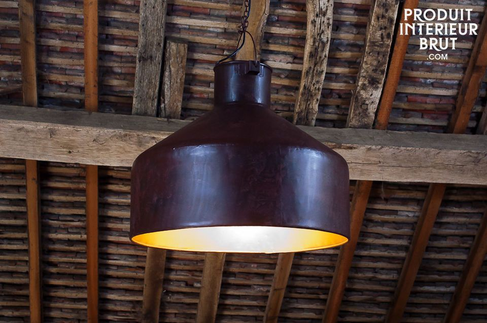 Large neo-industrial ceiling light