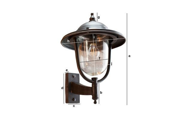 Product Dimensions Large outdoor wall lamp Lizurey