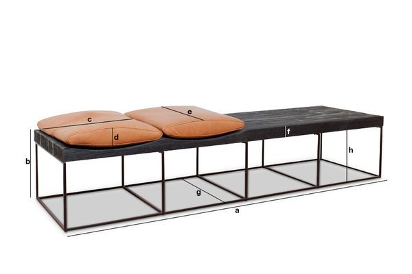 Product Dimensions Large Scandinavian bench Klitten