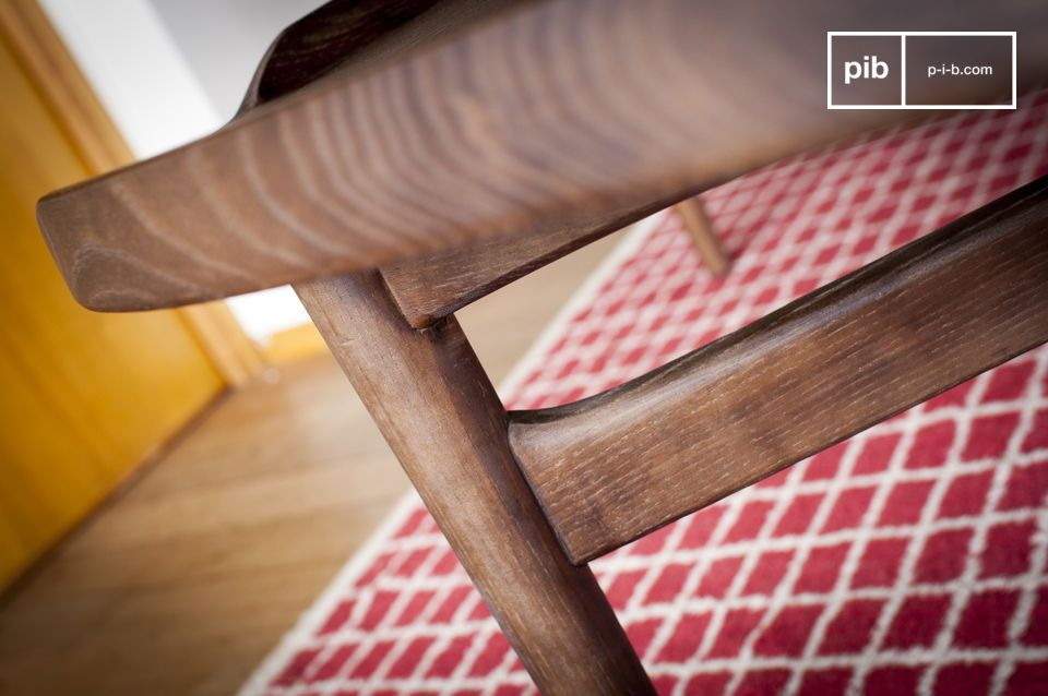 The walnut finish contributes to the overall aesthetic success