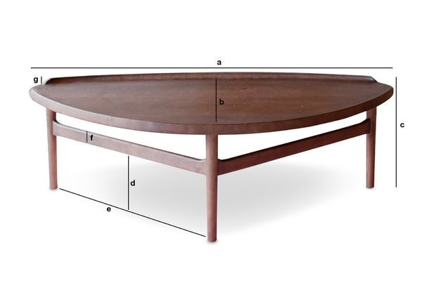 Product Dimensions Large triangular coffee table Arne