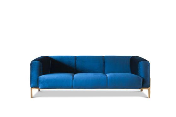Large Viela Velvet Sofa Clipped