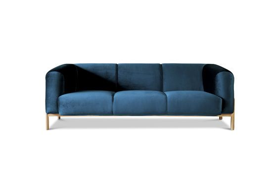 Large Viela Velvet Sofa Clipped