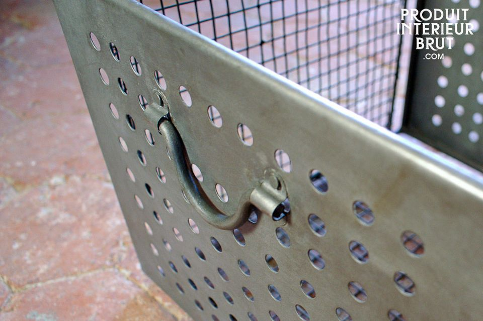 Industrially-inspired wire mesh basket, large model