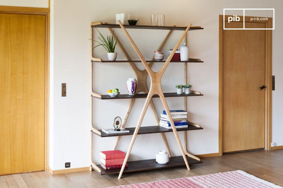 Large wooden bookcase Waverly
