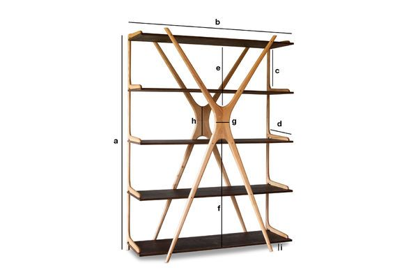 Product Dimensions Large wooden bookcase Waverly