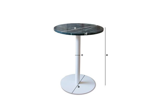Product Dimensions Lasby Green Marble Bistro Table